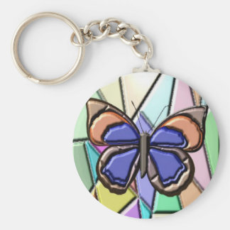 Stained Glass Butterfly Keychains
