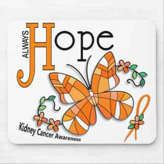 Stained Glass Butterfly Kidney Cancer Mouse Mat