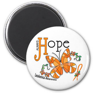Stained Glass Butterfly Leukemia Magnet