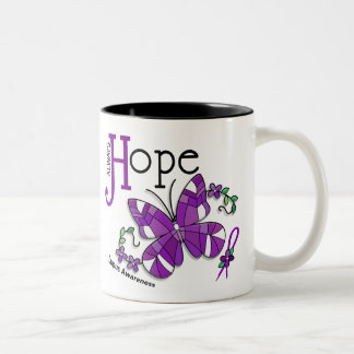 Stained Glass Butterfly Lupus Mugs