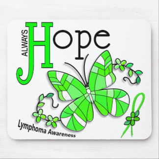 Stained Glass Butterfly Lymphoma Mouse Mat