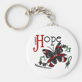 Stained Glass Butterfly Melanoma Keychains