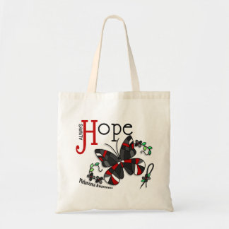 Stained Glass Butterfly Melanoma Tote Bag