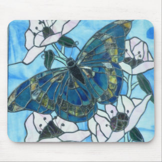 Stained glass Butterfly Mousepads