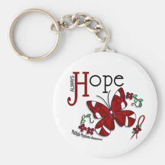 Stained Glass Butterfly Multiple Myeloma Basic Round Button Key Ring