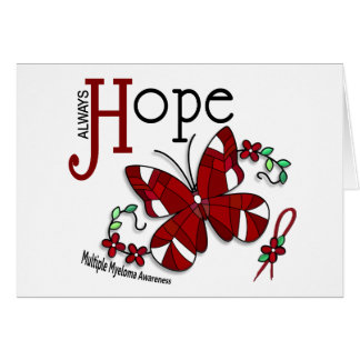 Stained Glass Butterfly Multiple Myeloma Greeting Card