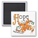 Stained Glass Butterfly Multiple Sclerosis Refrigerator Magnets