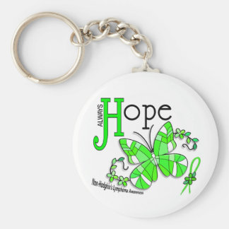 Stained Glass Butterfly Non-Hodgkins Lymphoma Key Ring