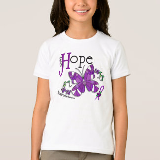 Stained Glass Butterfly Pancreatic Cancer T-Shirt
