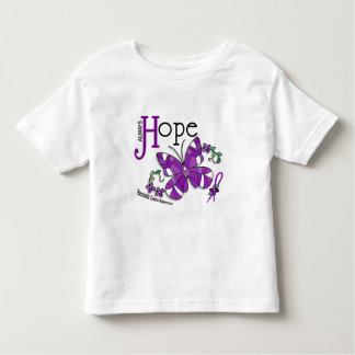 Stained Glass Butterfly Pancreatic Cancer Tee Shirt
