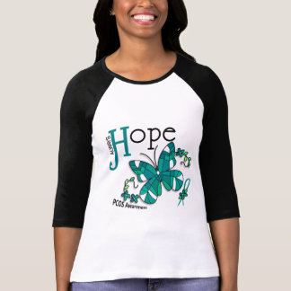 Stained Glass Butterfly PCOS T-Shirt