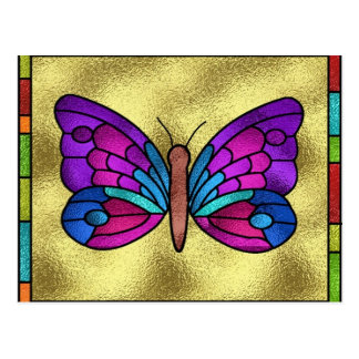 Stained Glass Butterfly Post Card