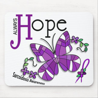 Stained Glass Butterfly Sarcoidosis Mouse Pad