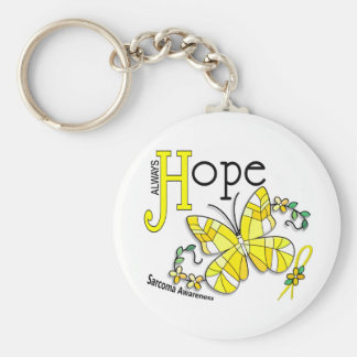 Stained Glass Butterfly Sarcoma Keychain