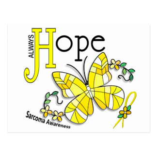 Stained Glass Butterfly Sarcoma Postcard