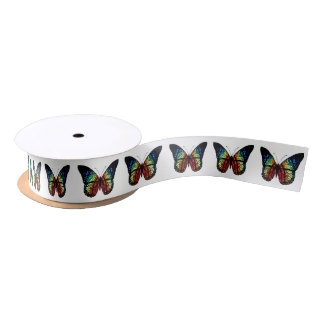Stained Glass Butterfly Satin Ribbon