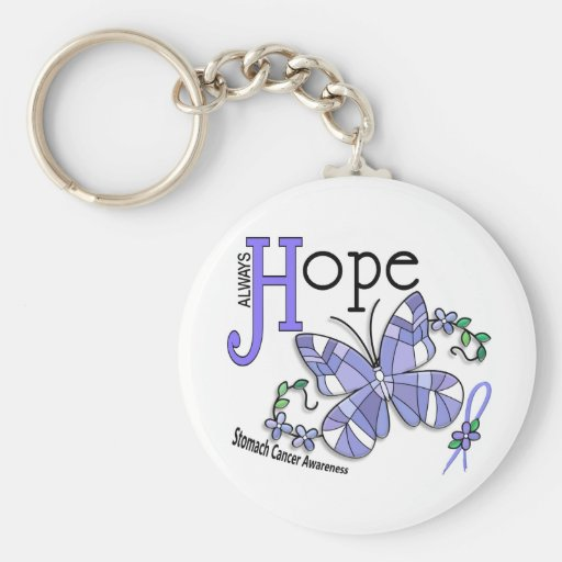 Stained Glass Butterfly Stomach Cancer Keychains
