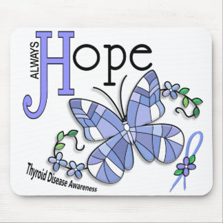 Stained Glass Butterfly Thyroid Disease Mousepad