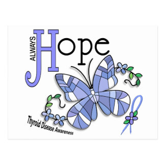Stained Glass Butterfly Thyroid Disease Postcard
