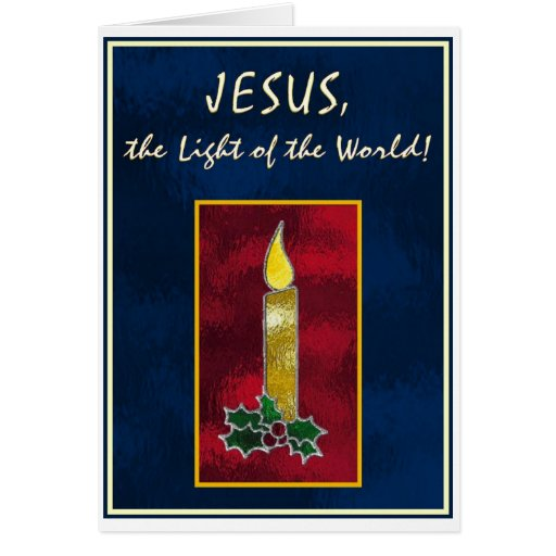 Stained glass candle cards