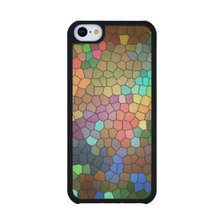 Stained Glass Carved® Maple iPhone 5C Slim Case