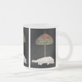 Stained Glass Cat Sunlamp Glass Mug