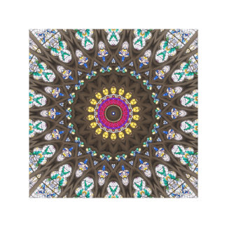 Stained Glass Cathedral Window Pattern Canvas Print