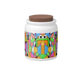 Stained Glass Ceramic Sweet Jar