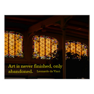 Stained Glass Chiaroscuro Poster