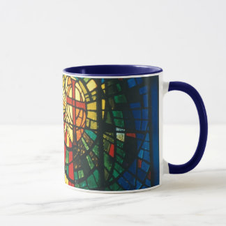 Stained Glass Christian Cross Coffee Mug art