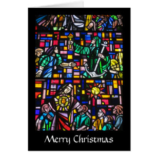 stained glass christmas greeting card