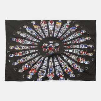 Stained-Glass Church Rose Window Tea Towel