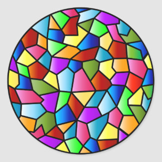 Stained Glass Circle Sticker