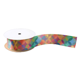 Stained Glass Circles Pattern Gift Satin Ribbon