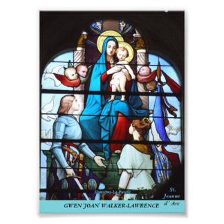 Stained Glass Collection - Joan of Arc Photo Print
