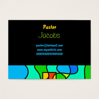 Stained Glass Cross, Business Card