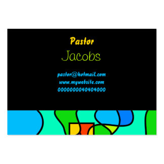 Stained Glass Cross, Pack Of Chubby Business Cards