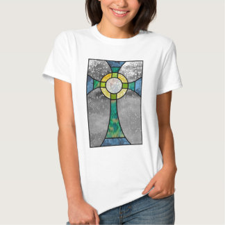 Stained glass cross tee shirt