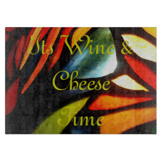 Stained Glass Cutting-Board-Wine-Cheese-Time Cutting Boards