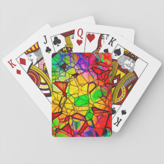 Stained Glass Design Playing Cards, Standard Index Poker Deck
