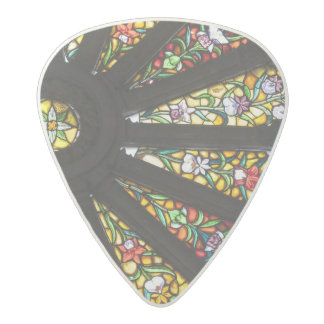 Stained Glass detail 2 Acetal Guitar Pick