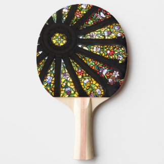 Stained Glass detail 2 Ping Pong Paddle