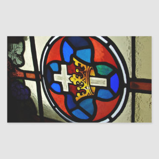 Stained Glass detail Rectangular Sticker