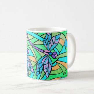Stained Glass Dragonflies Mug