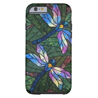 Stained Glass Dragonflies Tough iPhone 6 Case
