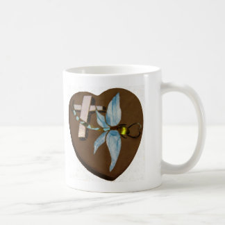 Stained Glass Dragonfly - Love, Life, and Memory Coffee Mug