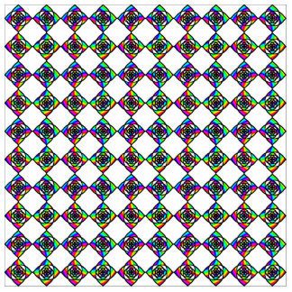 Stained Glass Effect Floral Pattern. Standing Photo Sculpture