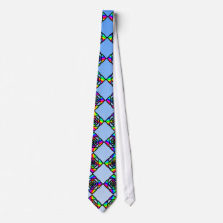 Stained Glass Effect Floral Pattern. Tie