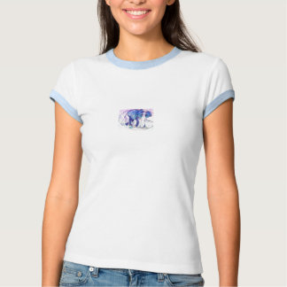 Stained glass elephant tshirt