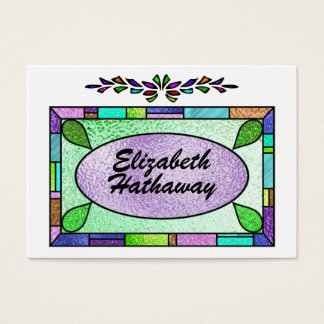 Stained Glass Enclosure / Business Card by SRF
